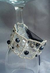 Black Velvet Cuff by Sumosami