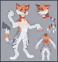 Orange and Grey Kitty Kat Adopt [Closed] by sugar-poppy