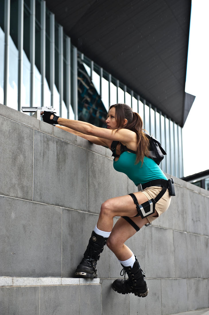 Lara Croft - on the ledge by ShonaAdventures