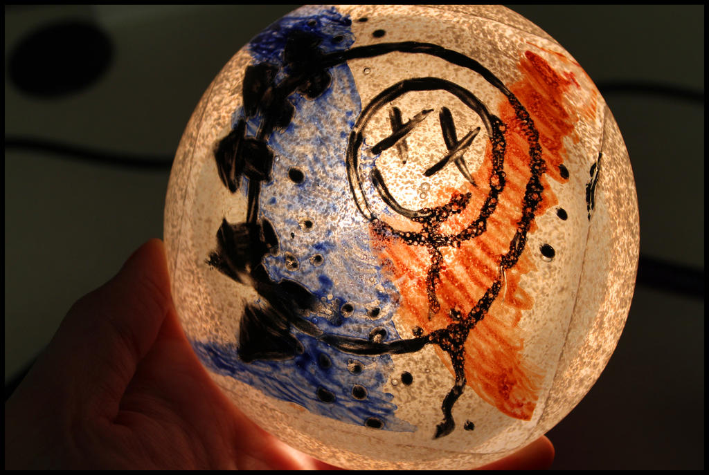 Blink-182 Glass Paper Weight by Karen73