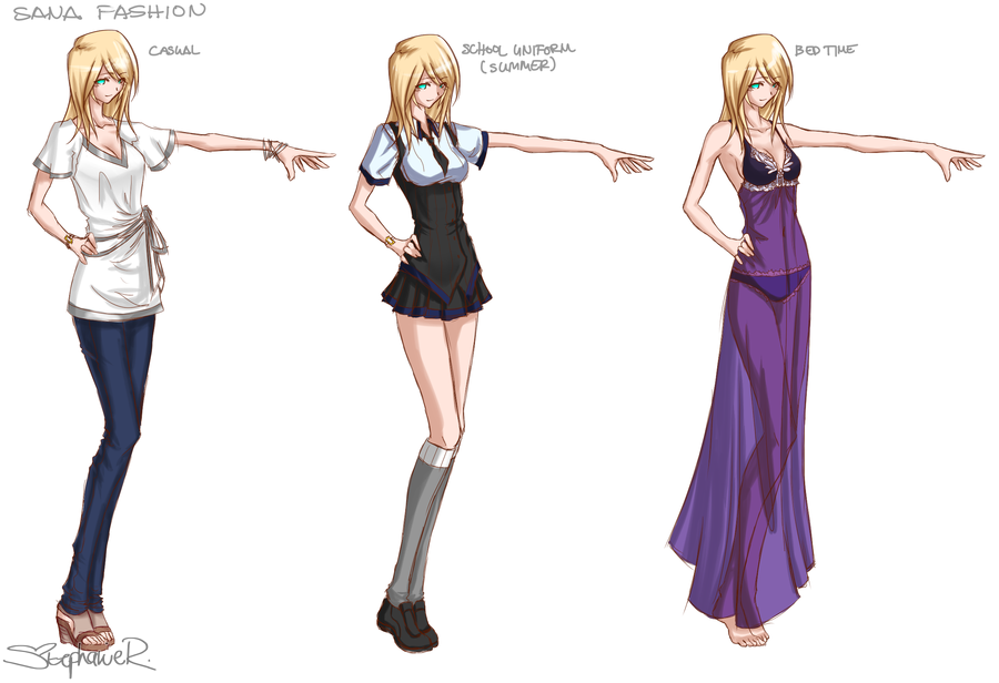 Character Design Outfits : Character clothing design by stephanie r on deviantart