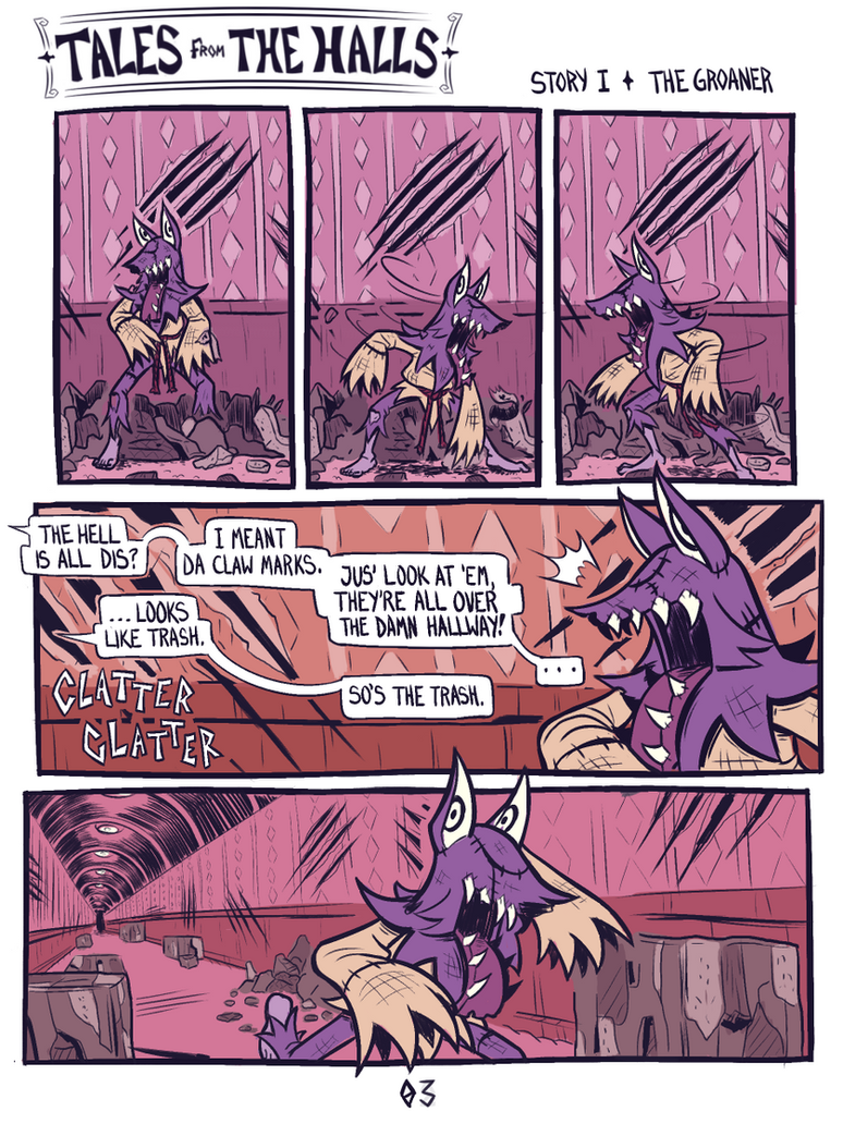 Tales from the Halls - The Groaner - 03 by WideMouthInk