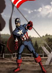 Captain America Couleur by ClarkyBoingo