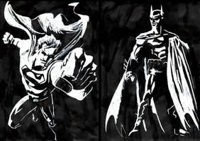 Superman - Batman W on B by ClarkyBoingo