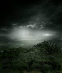 Rainy Landscape STOCK by wyldraven