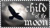 Child Of The Moon stamp by wyldraven
