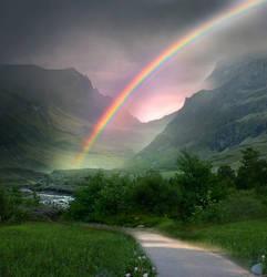 Rainbow Path STOCK by wyldraven