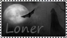 Loner stamp by wyldraven
