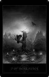 Black Metal Tarot 4 by wyldraven
