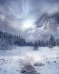 Winter Scene Stock by wyldraven