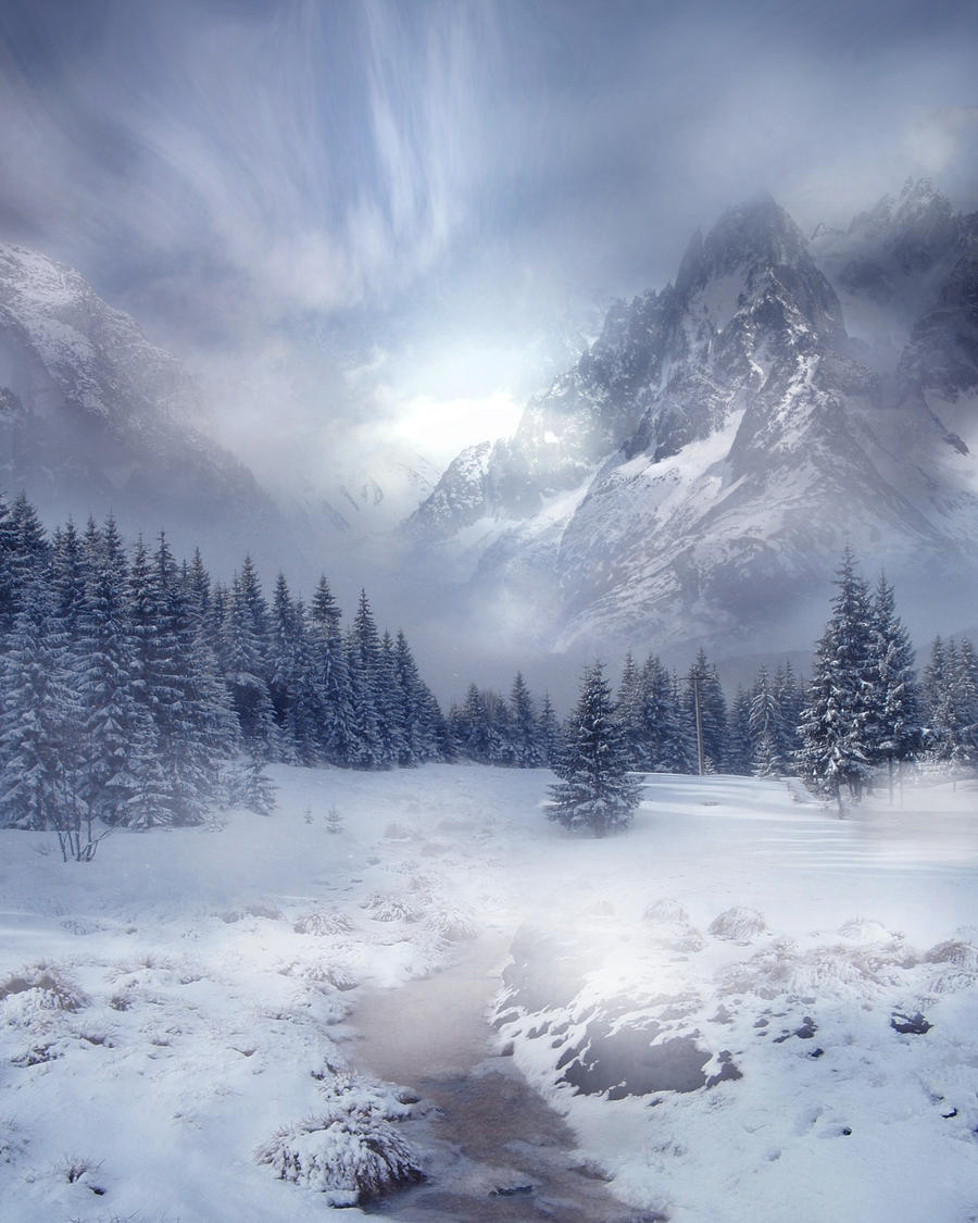 Winter Scene Stock by wyldraven