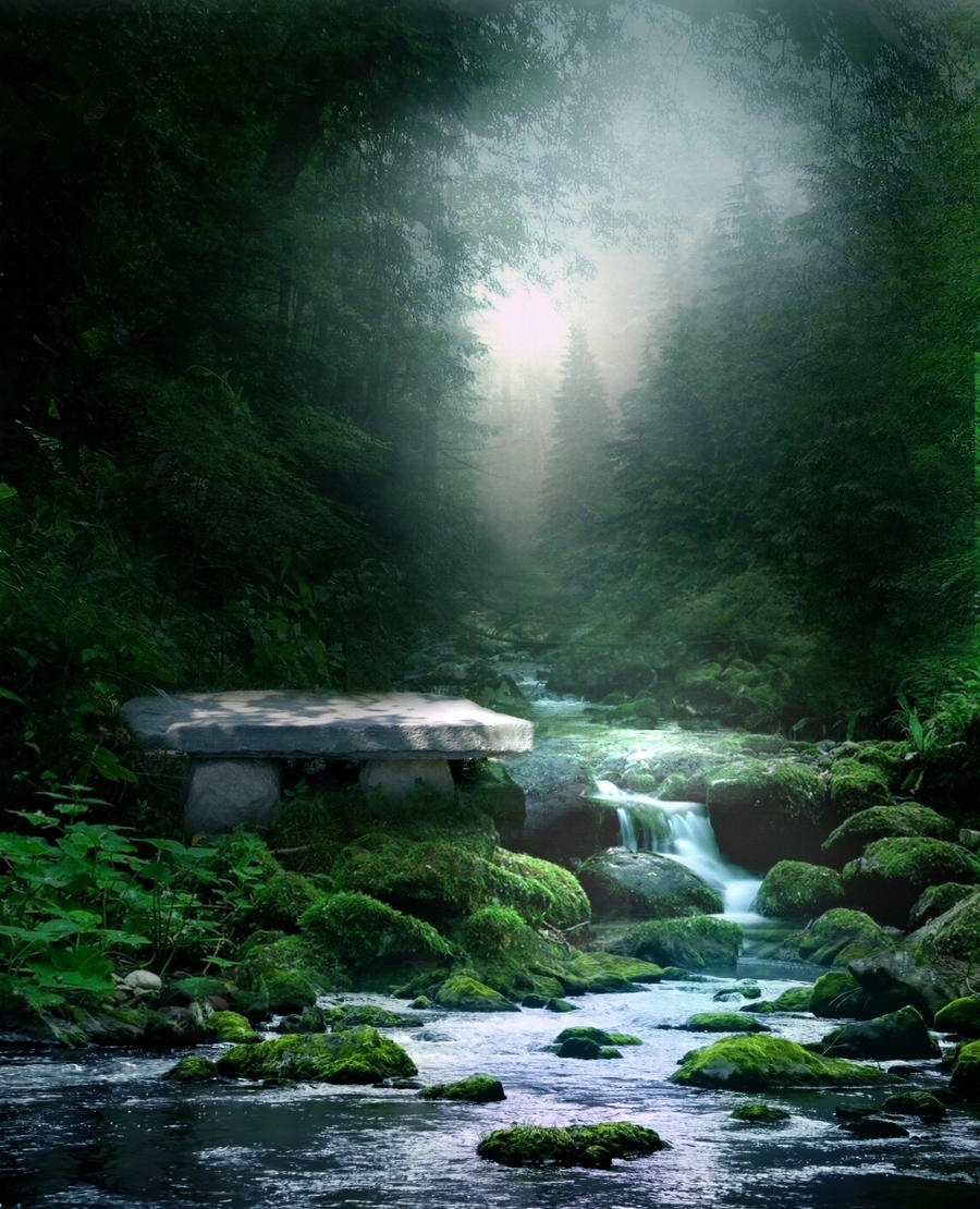 Forest Stream STOCK II by wyldraven