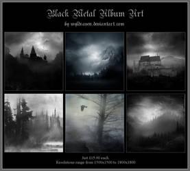 Black Metal Album Art 1 by wyldraven