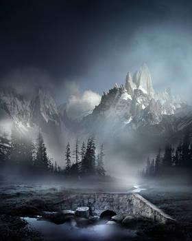 Mountain Landscape Stock V1 by wyldraven