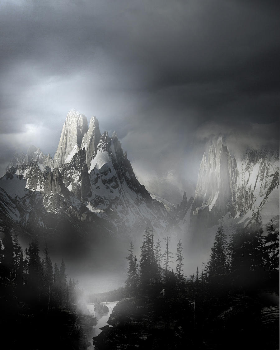 Fantasy Landscape Wallpaper: Mountain Landscape Stock V2 By Wyldraven On DeviantArt
