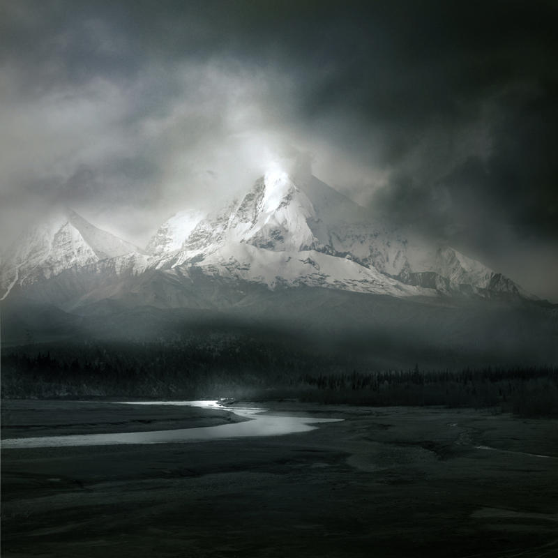 Winter Mountains Stock