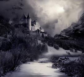 Winter Castle Stock by wyldraven