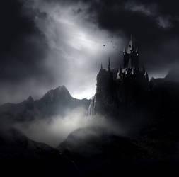 Dark Gothic Castle Stock