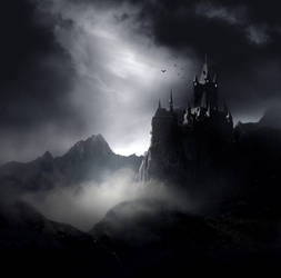 Dark Gothic Castle Stock by wyldraven