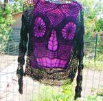 Sugar Skull  Crochet Sweater