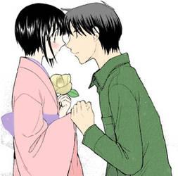 Akito and Shigure by kyubichan13
