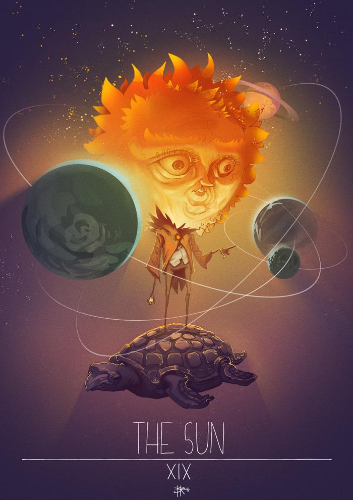 Tarot: The Sun by Okoolarniq