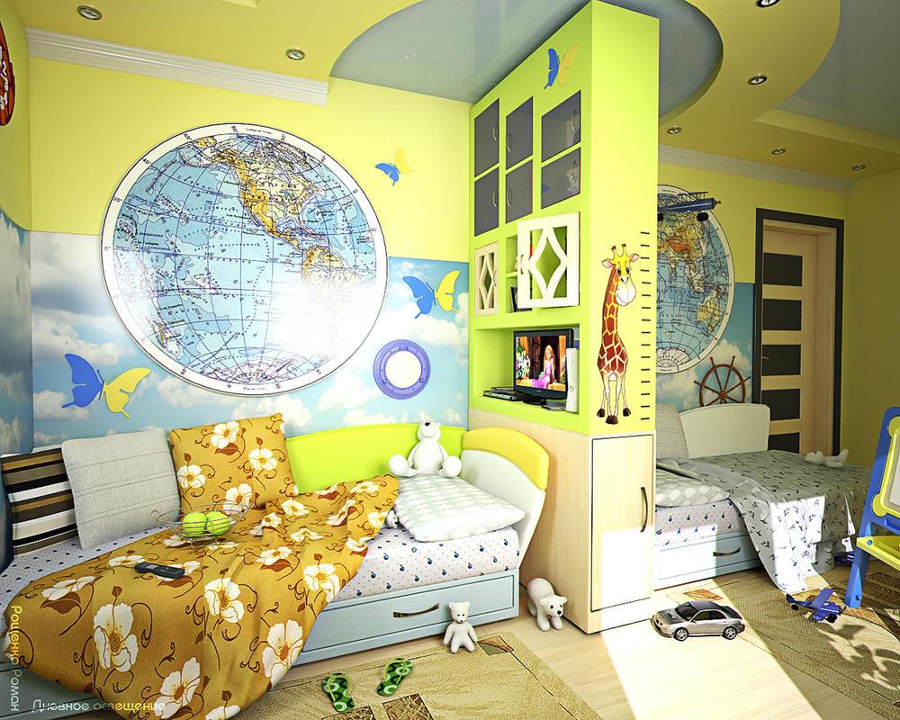 Дизайн детской для девочки и мальчика комнаты