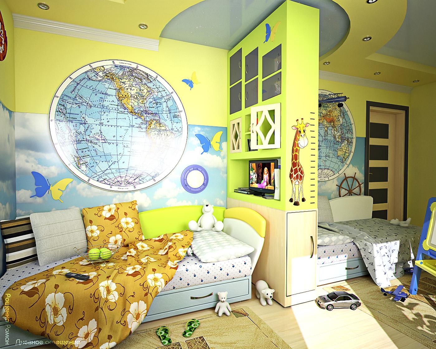 Дизайн детской для подростка и девочки