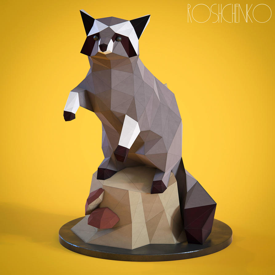 Lowpoly Racoon by doubleagent2005