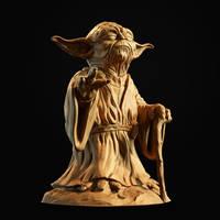 Yoda Sculpture by doubleagent2005