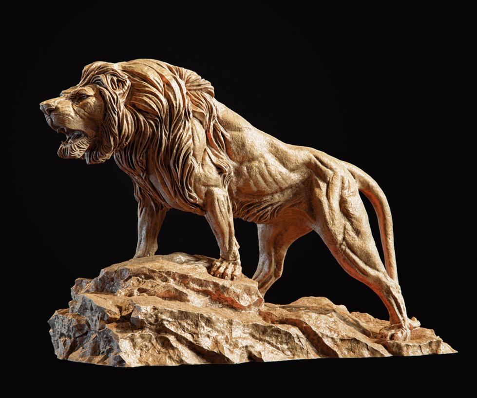 Lion Sculpture 3d print model by doubleagent2005