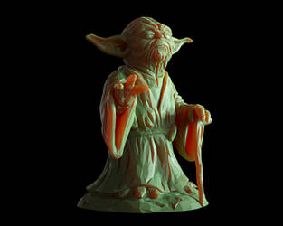 FREE Yoda 3d-print Lowpoly Sculpture by doubleagent2005