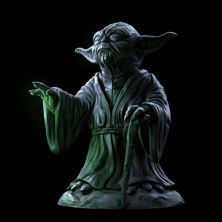 3dprinting Art Sculpture: Yoda Sculpture By Doubleagent2005 On DeviantArt