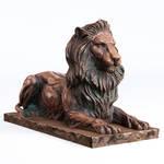 Bronze Lion Lowpoly PBR model