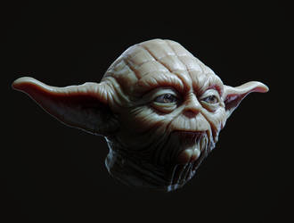 Yoda Head by doubleagent2005