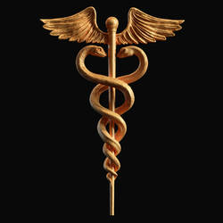 Caduceus Medical symbol 3d print model by doubleagent2005