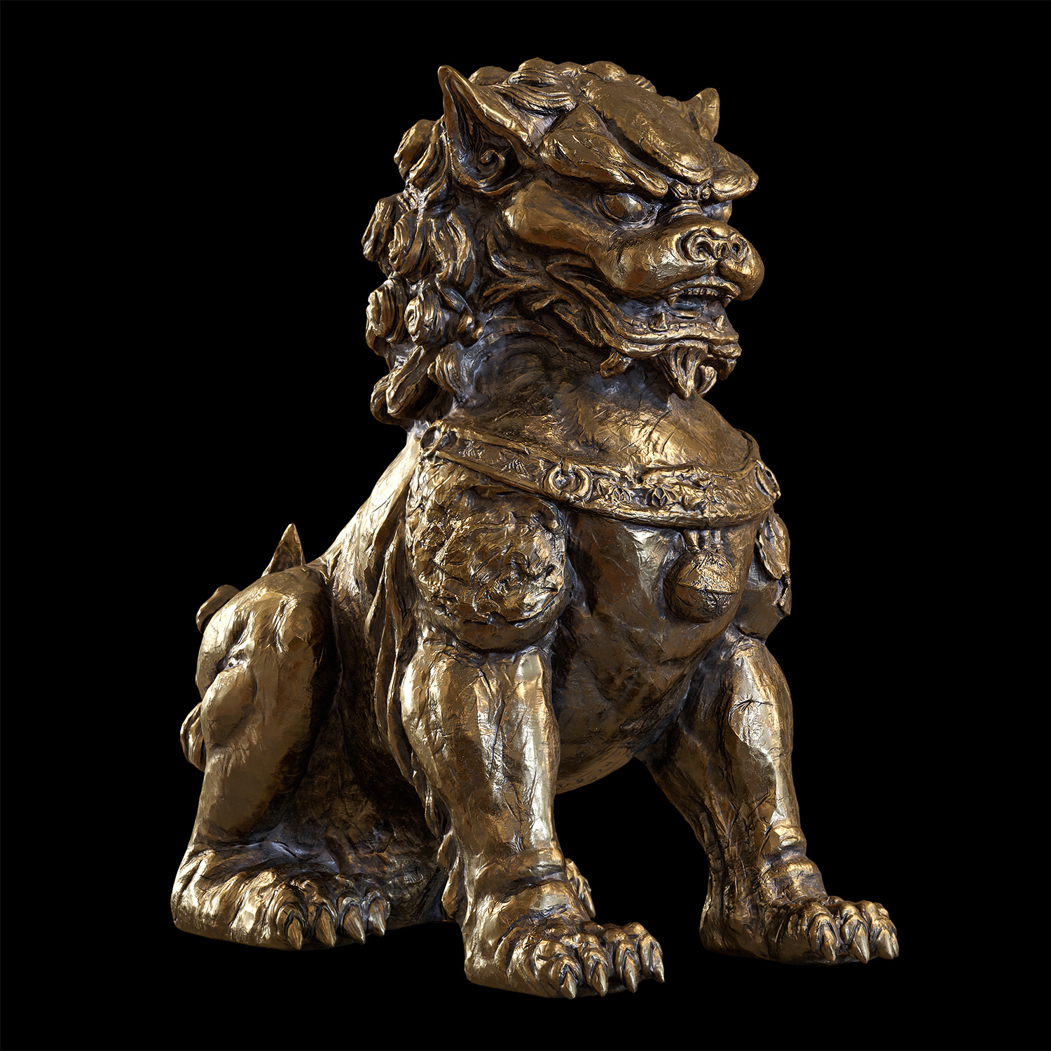Chinese lion guardian sculpture lowpoly 3d model by doubleagent2005 on  DeviantArt