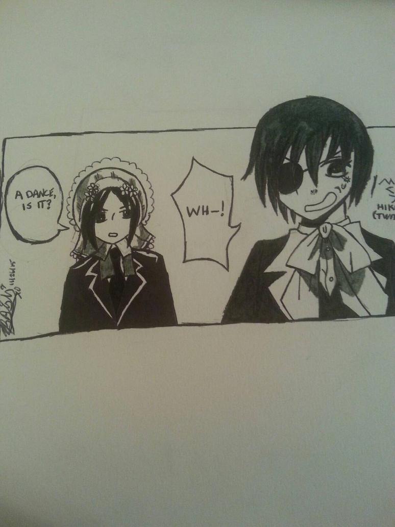 Black Butler manga panel by TBBishiXO