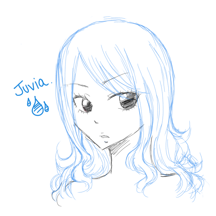 Juvia Sketch Portrait by Rytsuko