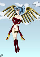 Mecha angel, first try by mercury-yume