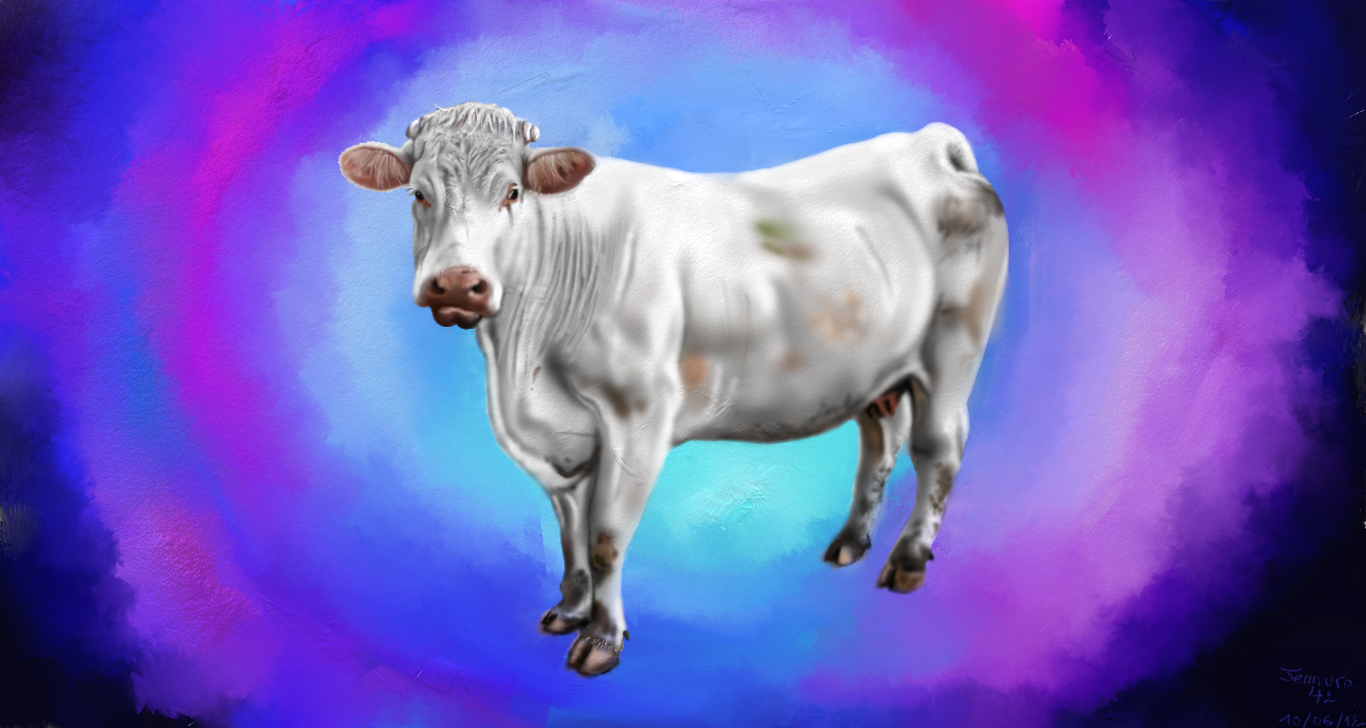 The psychedelic cow by Jemura42
