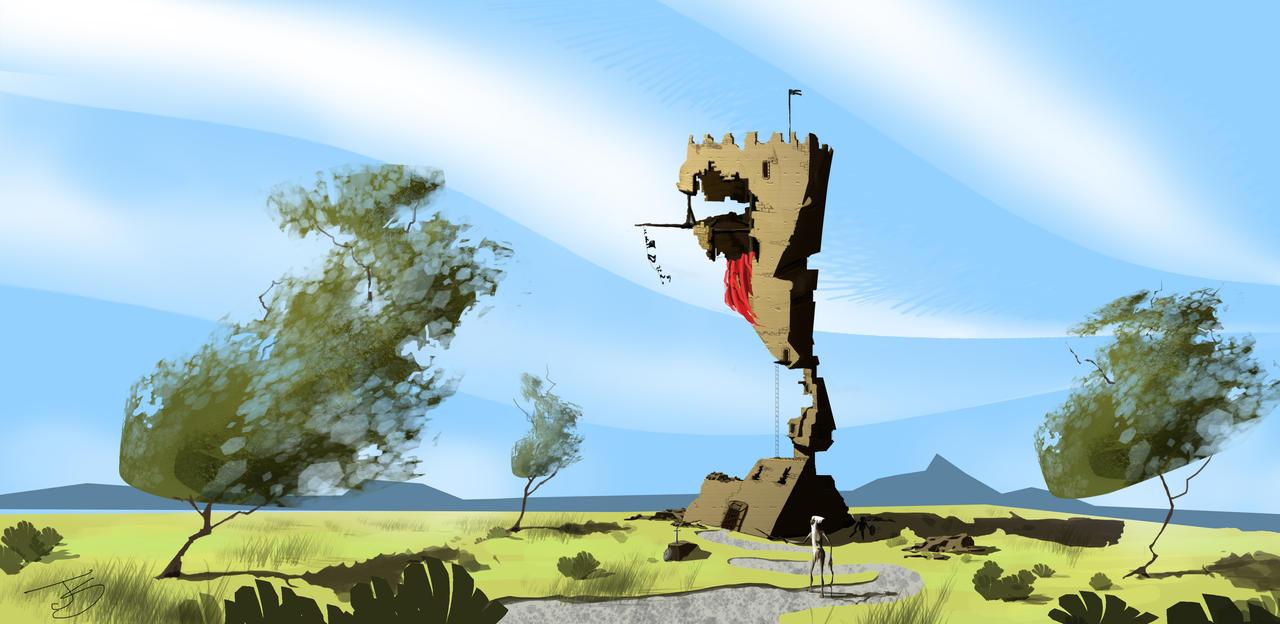 cartoon landscape by Jemura42