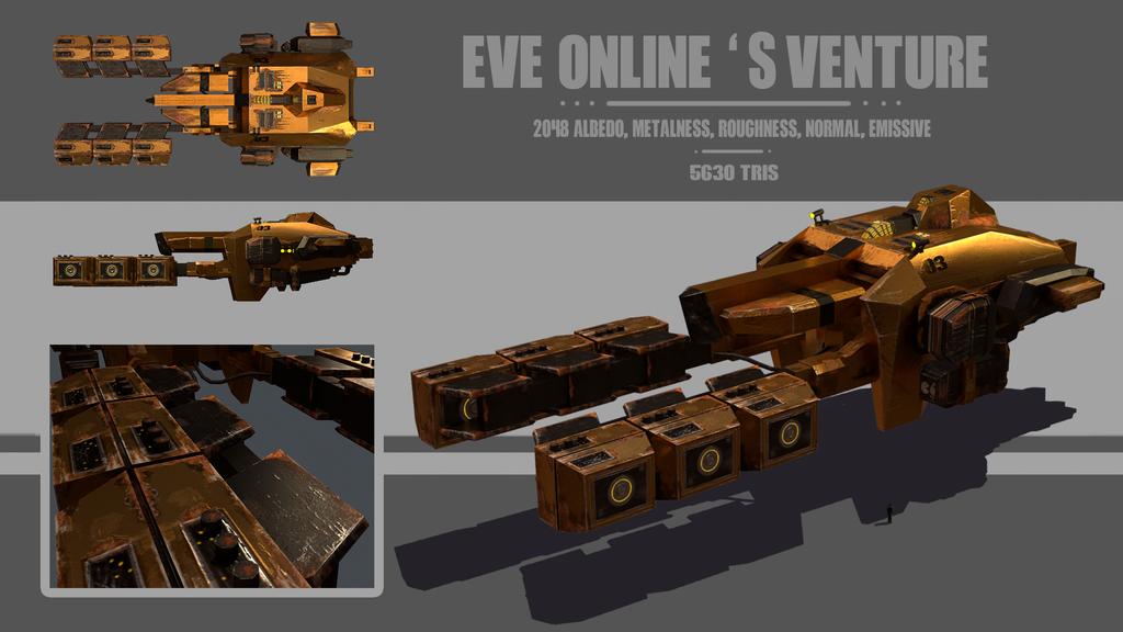 Eve online's Venture by Jemura42