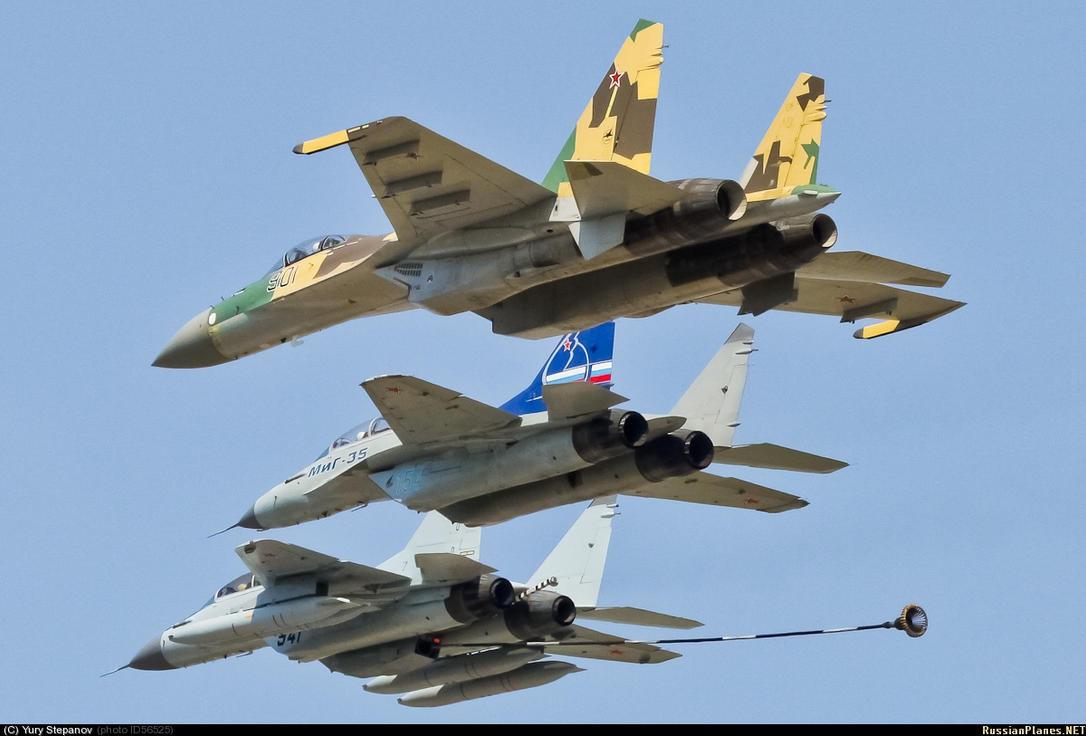 """صفقة مقاتلات """"ميغ 35"""" روسية لمصر - صفحة 9 Su_35_mig_35_mig_29k_by_flanker982-d5ggu5s"""