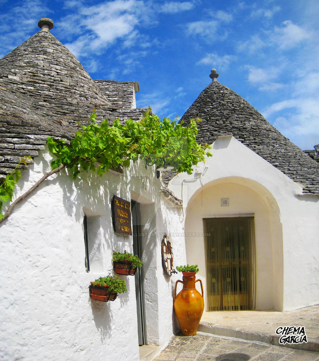 Alberobello by ChemaIllustration
