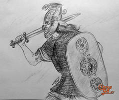 Celtic Warrior by ChemaIllustration