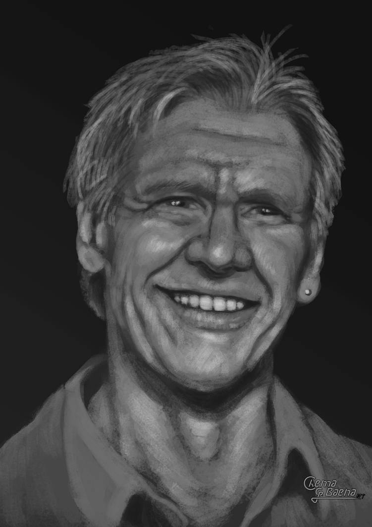 Harrison Ford - 1h30min Fast Paint Portrait by ChemaIllustration