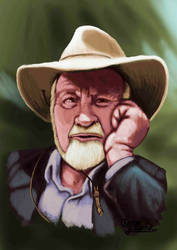 Tribute to Bill Mollison by ChemaIllustration