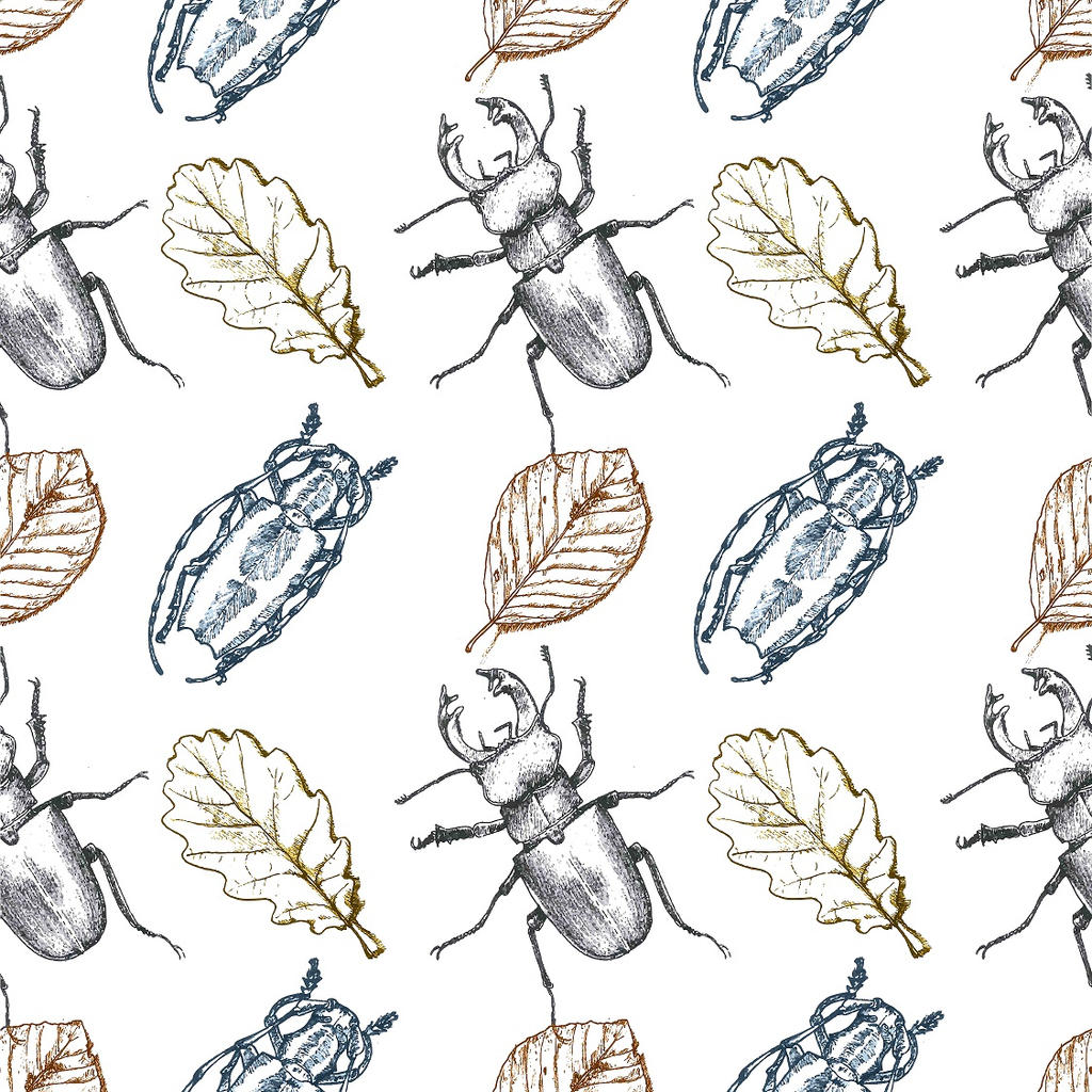 Bugs and leaves by ChemaIllustration