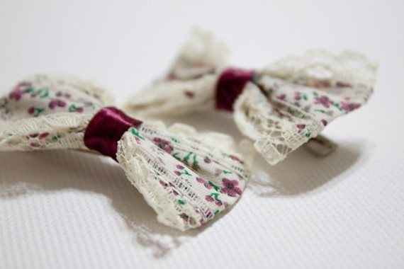 A Pair Of Floral Hair Clips by YourSweetTreat